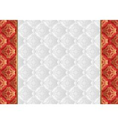 Glossy background with vintage pattern vector