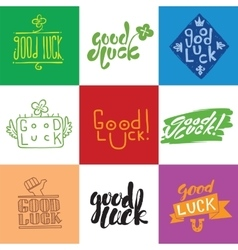 Good luck lettering set vector
