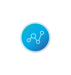 graphprofit symbol financial icon in blue circle vector image