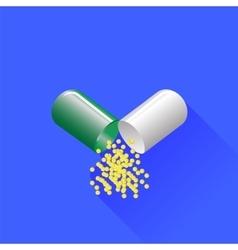 Green Pill vector