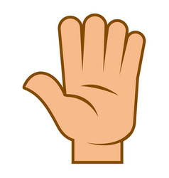 human hand greeting gesture or stop sign vector image