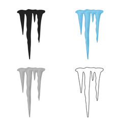 Icicles icon in cartoon style isolated on white vector