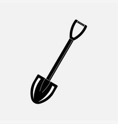 icon shovel dig treasure treasure vector image