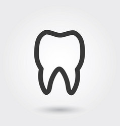 icon tooth medical icon line style for any vector image
