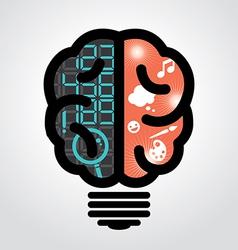 Idea bulb left brain right brain vector