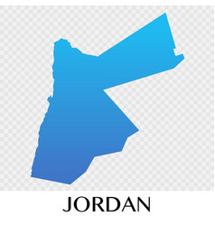 Jordan map in asia continent design vector