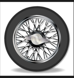 Knock on wire wheel vector
