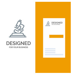 Lab microscope science zoom grey logo design and vector