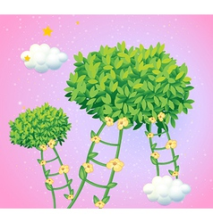 Ladders made of vine plants vector