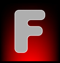 letter f sign design template element postage vector image