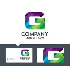 letter g - logo design vector image
