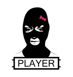 Masked girl pubg concept vector