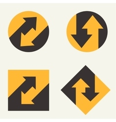 Modern set template monogram emblem logo Symbol vector