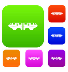 Monorail train set collection vector