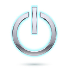 power button for design on white vector image