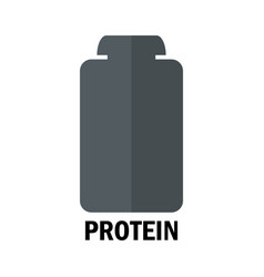 Protein bottle icon vector