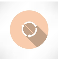 Refresh circle cycle arrow signs icon vector