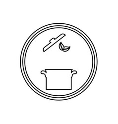 Saucepan kitchen cookware vector