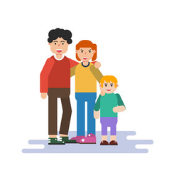 small family in flat style vector image