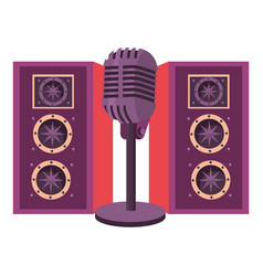 Speakers with microphone vector