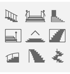 Stairs or stairway icons vector