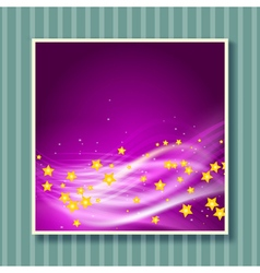 stars flying background vector image