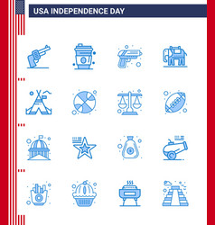 Stock icon pack american day 16 line signs and vector