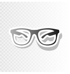 sunglasses sign new year vector image