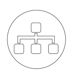tree structure icon vector image