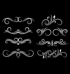 vintage floral dividers ornamental decorations on vector image