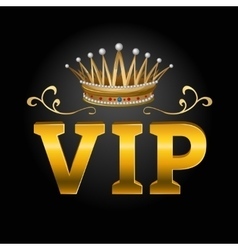 Vip with crown composition vector