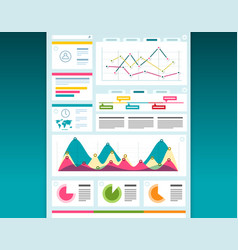 Web design dashboard template creative layout vector