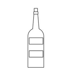 wine bottle drink alcohol beverage vector image