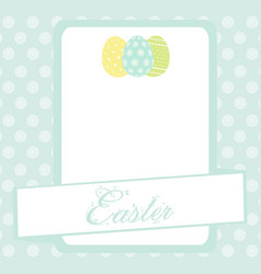 bule easter banner background with eggs vector image vector image