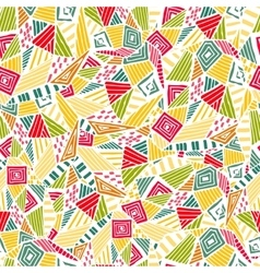 Geometric ethnic pattern design for background or vector image vector image