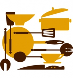 kitchenware vector image vector image