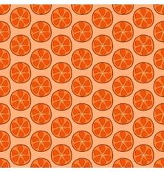 Seamless doodle orange pattern vector image