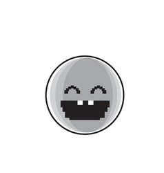 Smiling cartoon face laughing positive people vector
