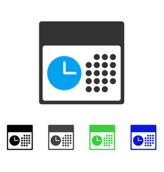 Time and date flat icon vector
