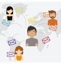 community communication world message vector image