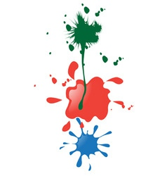 paint blobs vector image