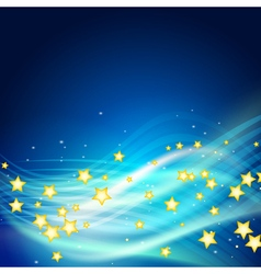 stars flying vector image vector image