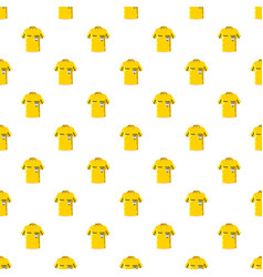 yellow soccer referee shirt pattern vector image