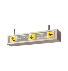 A guidepost in the airport vector image vector image