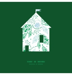 Abstract blue and green leaves house vector