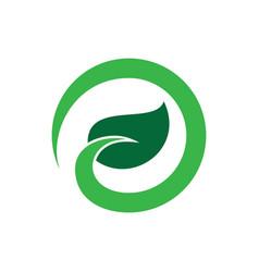 abstract circle leaf eco logo vector image vector image