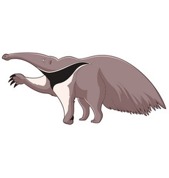 cartoon smiling anteater vector image vector image