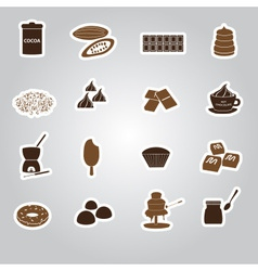 chocolate stickers set eps10 vector image vector image