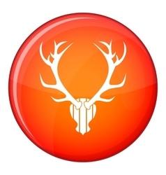 Deer antler icon flat style vector image vector image