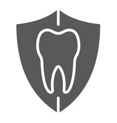 dental protection glyph icon stomatology vector image